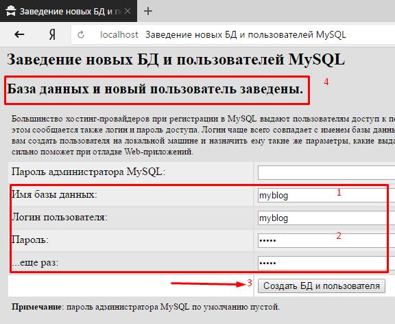 denwer MySQL