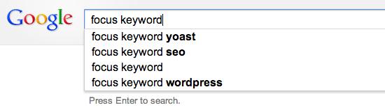 Подсказки google