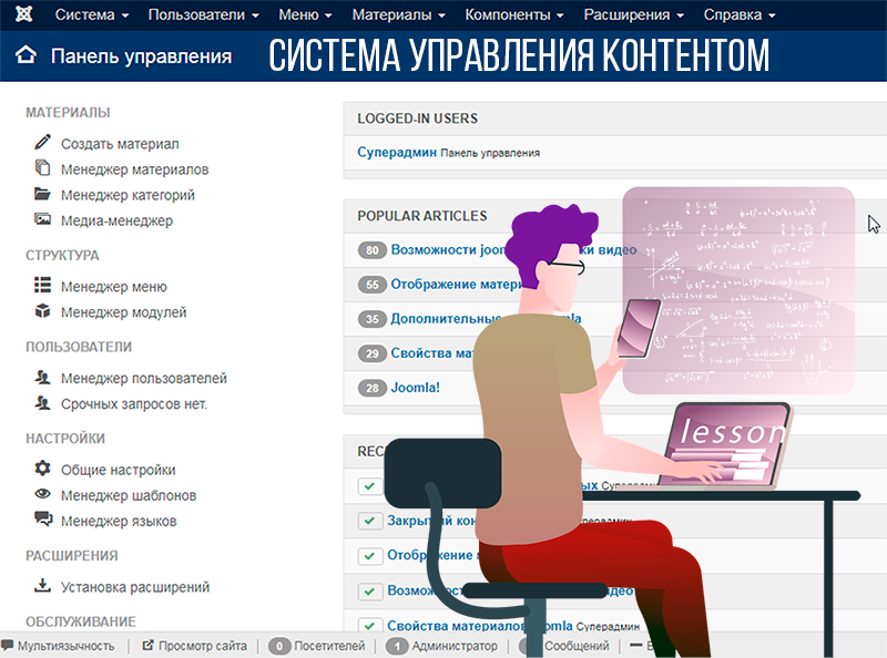 система управления контентом сайта