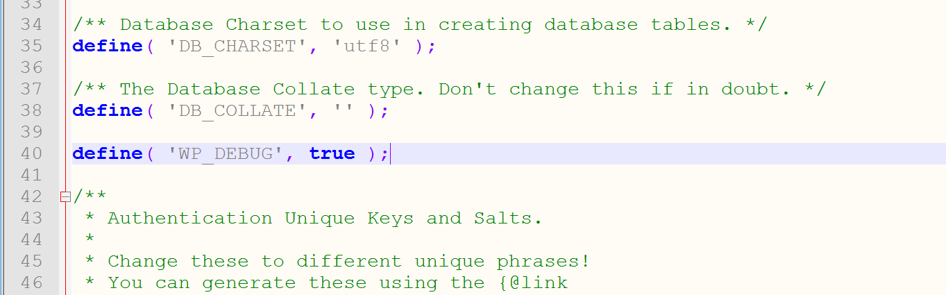 Пример WP_DEBUG